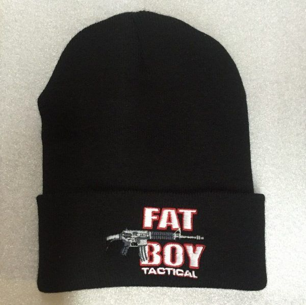 Fat Boy Knit Cap with Cuff, Black