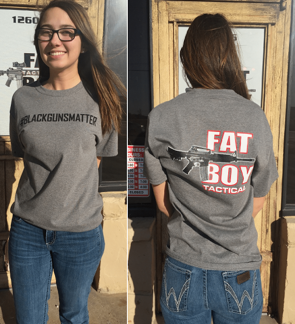 #blackgunsmatter T Shirt Gray, Adult Large