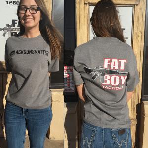 #blackgunsmatter T Shirt Gray, Adult X-Large