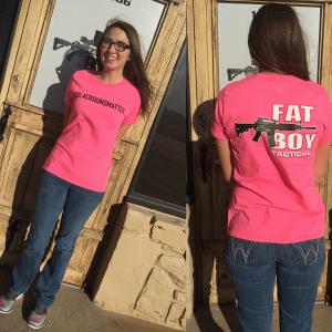 #blackgunsmatter T Shirt Pink, Adult Ladies 2X-Large